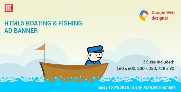 CodeCanyon Fishing and Boating HTML 5 Animated Banner 10025356