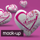 Valentine's Heart 3D Mock-Up - GraphicRiver Item for Sale
