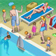 Isometric Tourists Peoples Set in Various Position - GraphicRiver Item for Sale