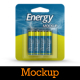 4 Battery Packaging Mockups - GraphicRiver Item for Sale