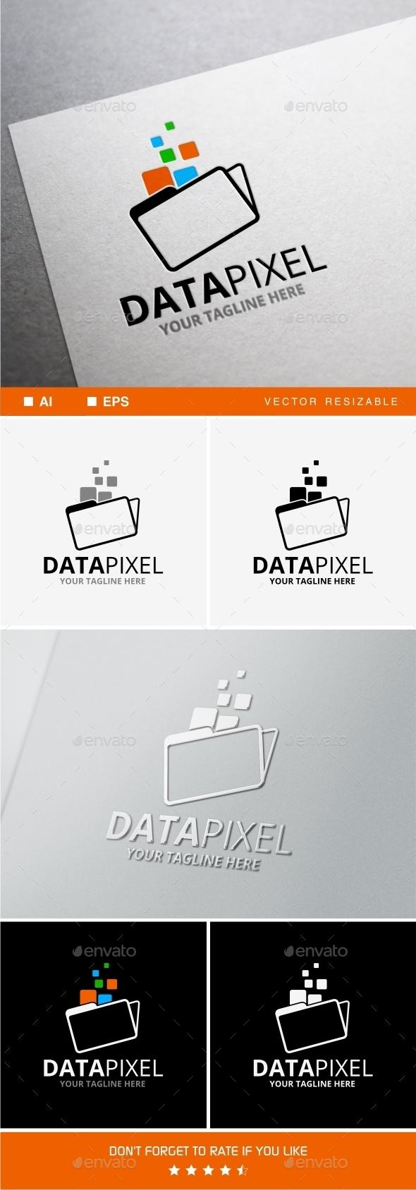 GraphicRiver Data Pixel Logo 10025965