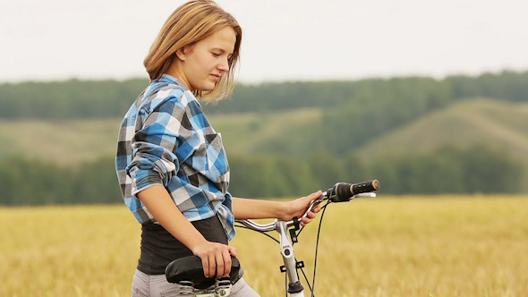 Girl With Bicycle 7