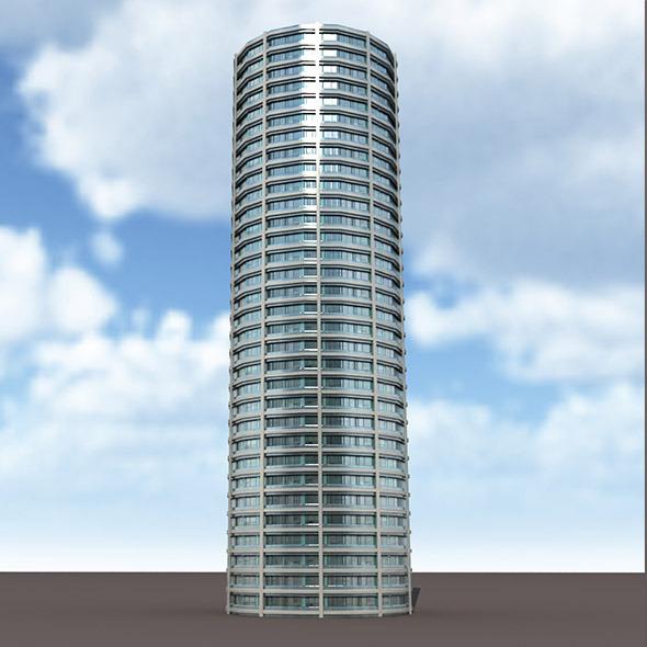 Skyscraper #9 Low Poly 3d Model - 3DOcean Item for Sale