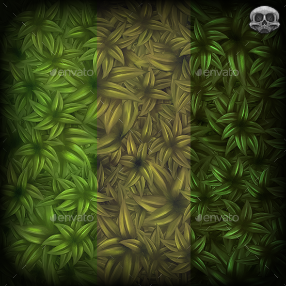 Leafy Bush Texture Tile - 3DOcean Item for Sale