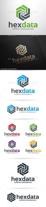 Hex Data Logo Template