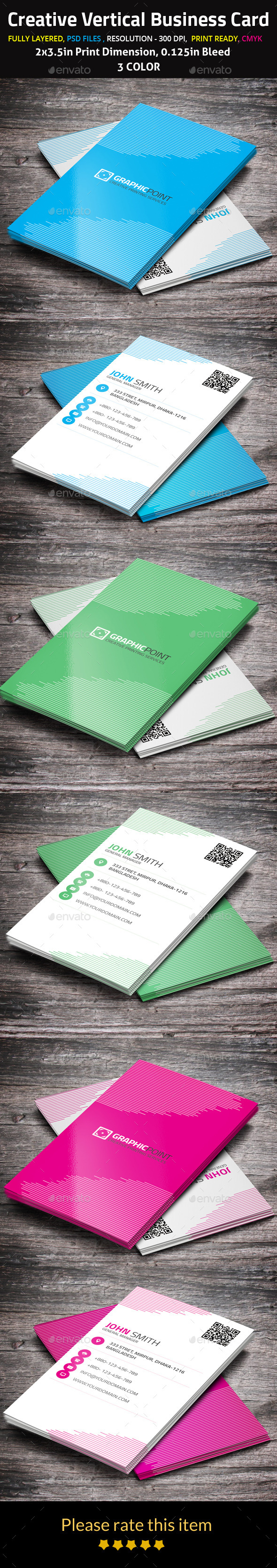 GraphicRiver Creative Vertical Business Card 10026571