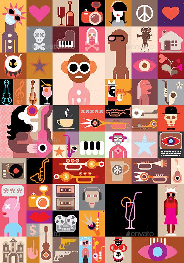GraphicRiver Art Collage 10026576