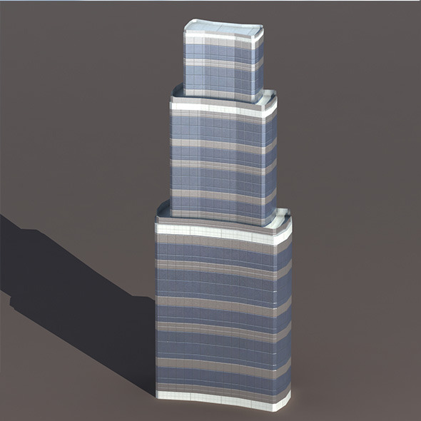 Skyscraper #8 Low Poly 3d Model - 3DOcean Item for Sale