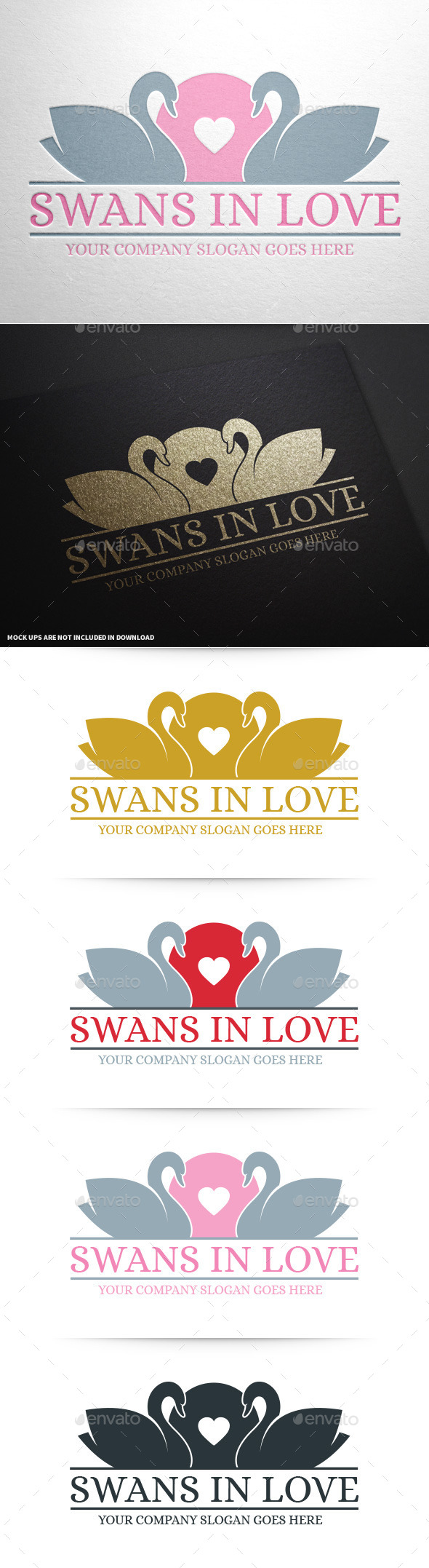 GraphicRiver Swans In Love Logo 10026584