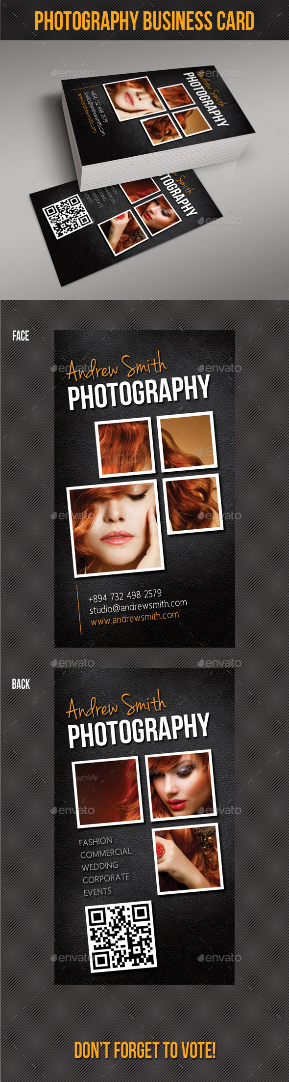 GraphicRiver Photography Studio Business Card V02 10026588