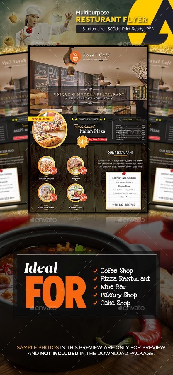 GraphicRiver Multipurpose Restaurant Flyer 9963970