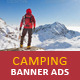 Adventure Camping Web Banner Ads - GraphicRiver Item for Sale