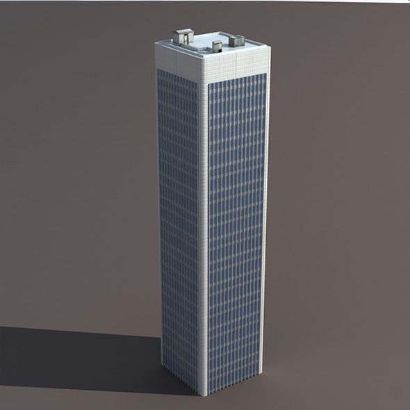 Skyscraper #7 Low poly 3d Model - 3DOcean Item for Sale
