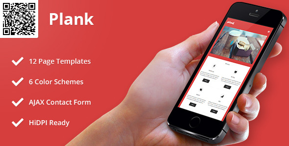 Plank   Mobile HTML/CSS Portfolio Template