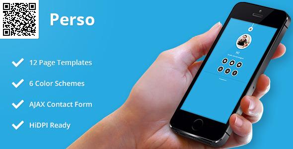 Perso | Mobile HTML/CSS Portfolio Template