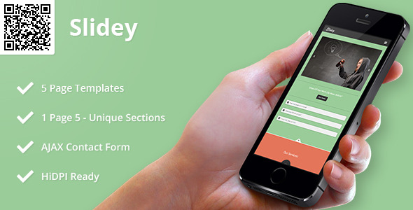 Slidey | Mobile HTML/CSS Portfolio Template