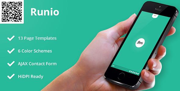 Runio | Mobile HTML/CSS Portfolio Template