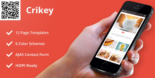 Crikey | Mobile HTML/CSS Portfolio Template