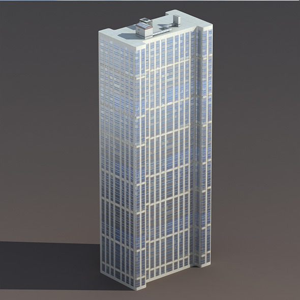 Skyscraper #6 Low Poly 3D Model - 3DOcean Item for Sale