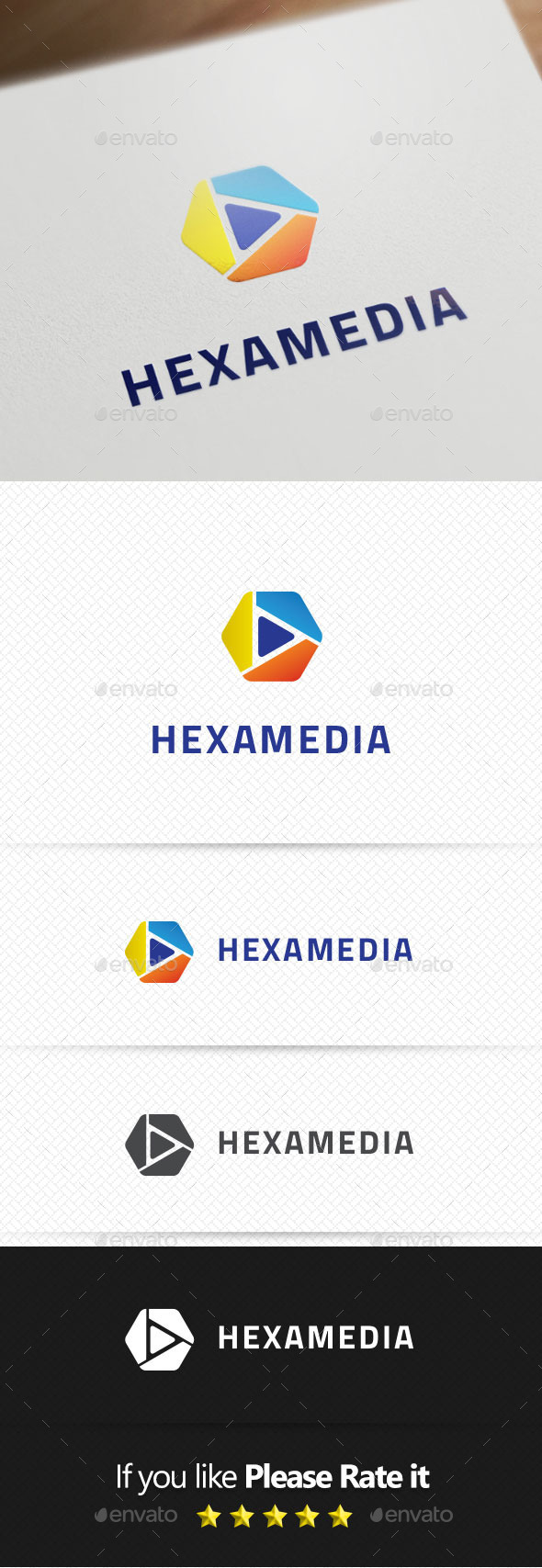 GraphicRiver Hexamedia Logo Templates 10027536