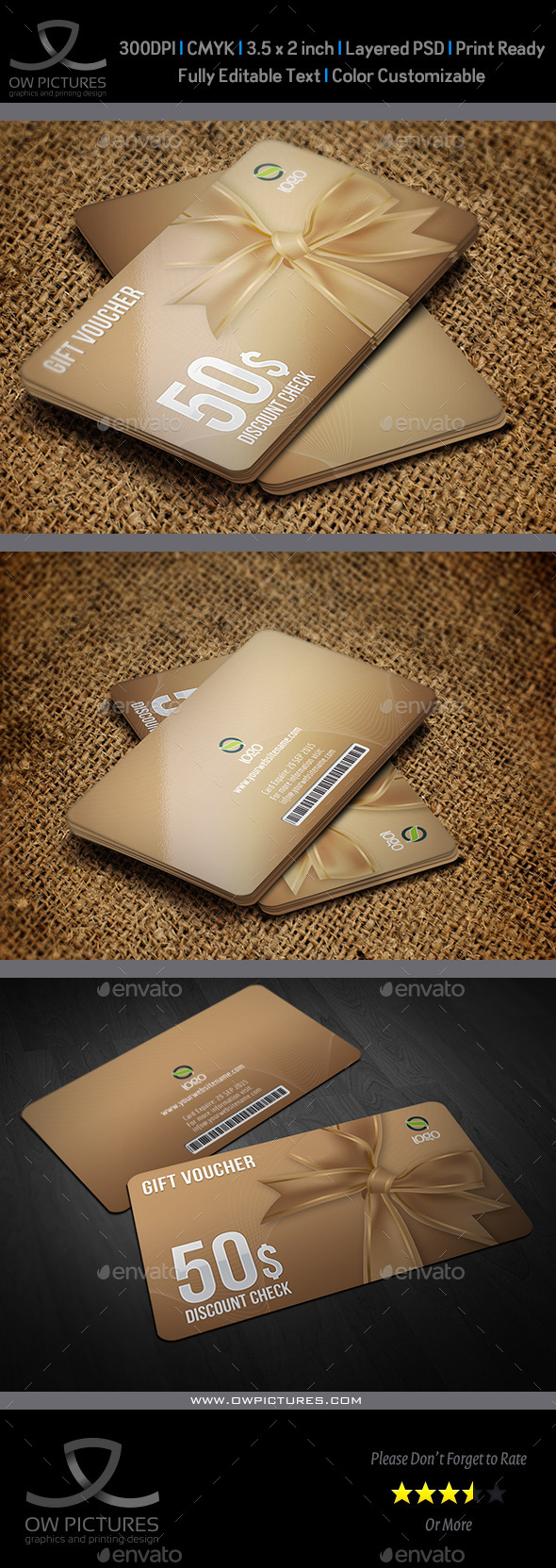 GraphicRiver Gift Voucher Card Template Vol 16 10027780