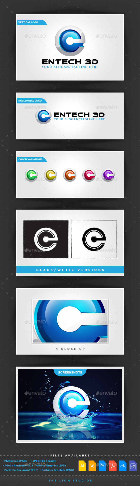 GraphicRiver Entech 3D Logo Template 10027782