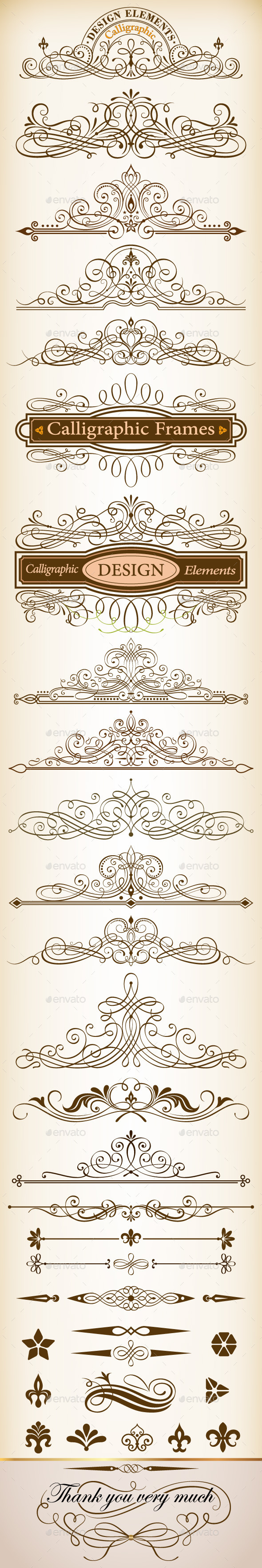 GraphicRiver Calligraphic Design Elements Vector Set 10027795