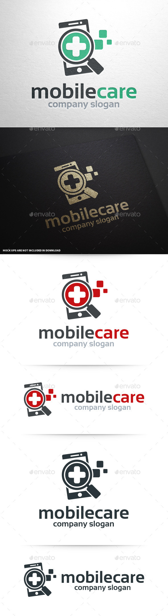 GraphicRiver Mobile Care Logo Template 10027798