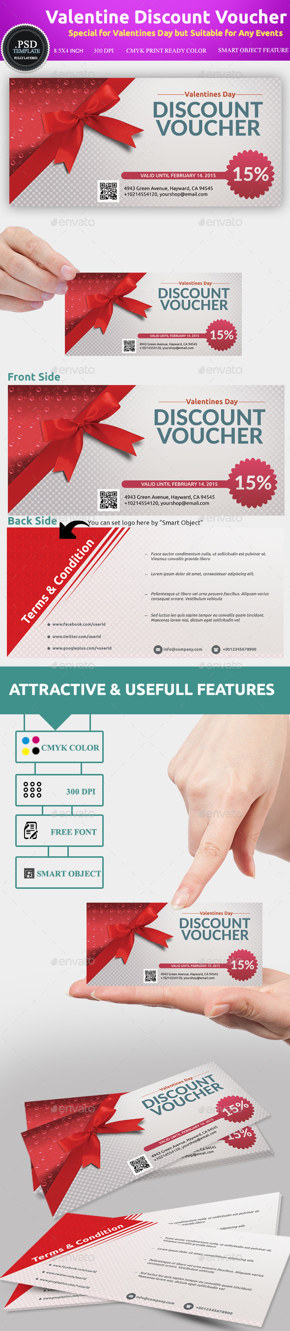 GraphicRiver Valentines Discount Voucher Template 10020176
