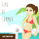 Girl of Summer Vector Pack - GraphicRiver Item for Sale