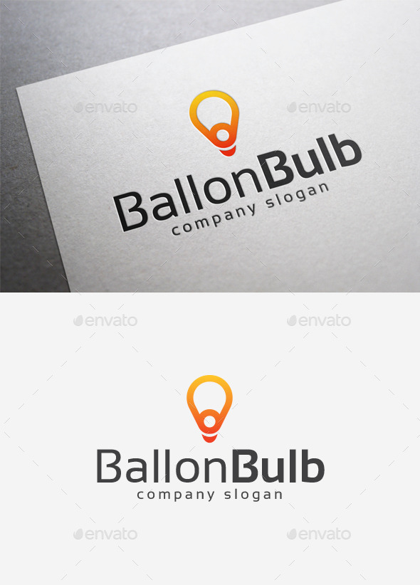 GraphicRiver Balloon Bulb Logo 10027936