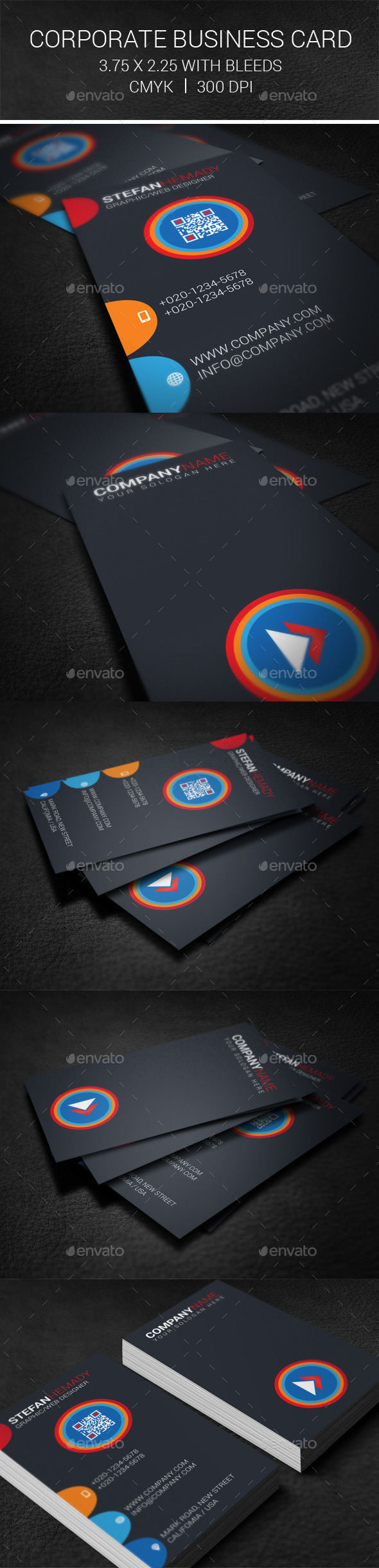 GraphicRiver Corporate Business Card 10027946
