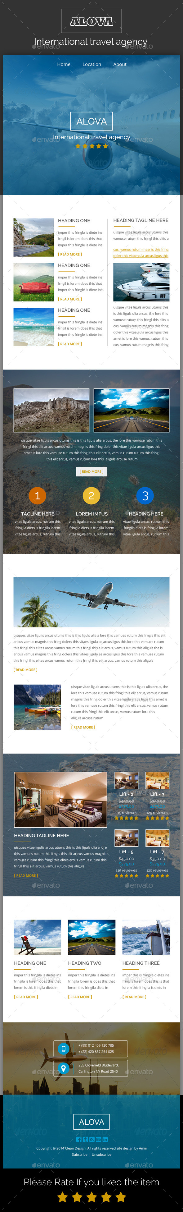 GraphicRiver Alova Travel Agency Email Template 10028155