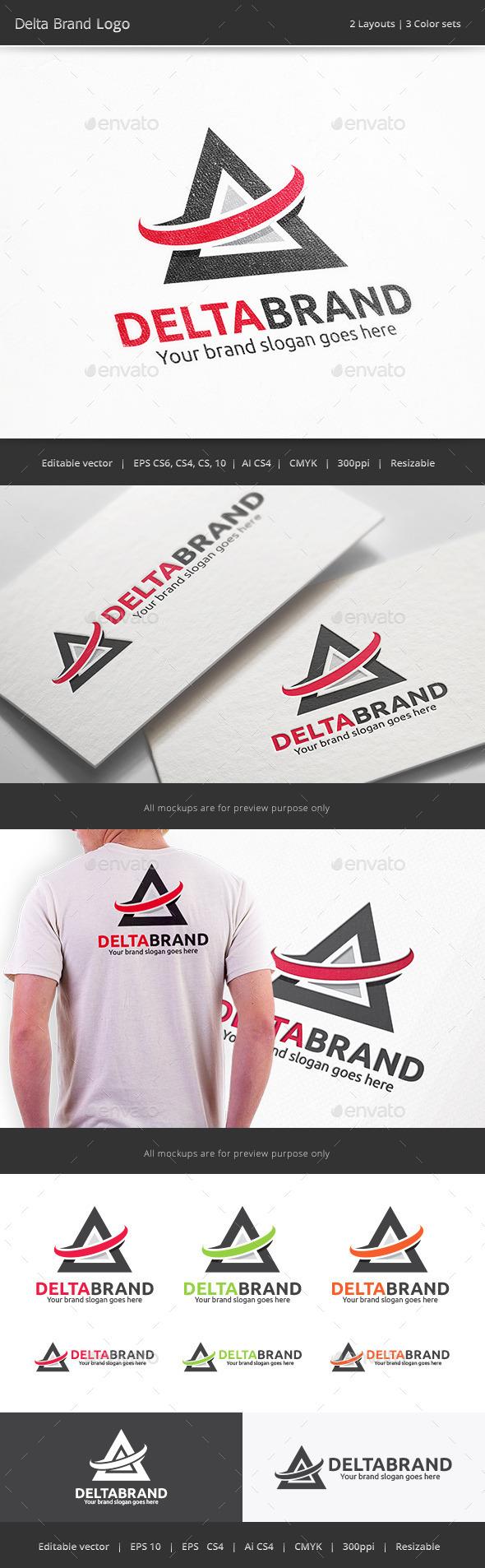 GraphicRiver Delta Brand Logo 10028242