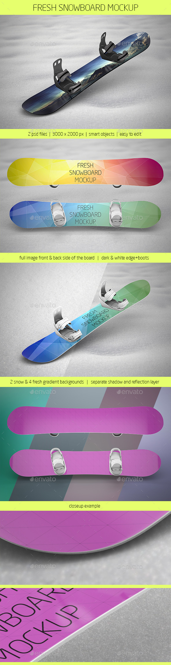 GraphicRiver Fresh Snowboard Mockup 10028461