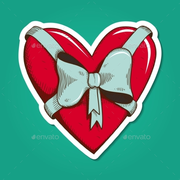 GraphicRiver Heart with Bow 10028460