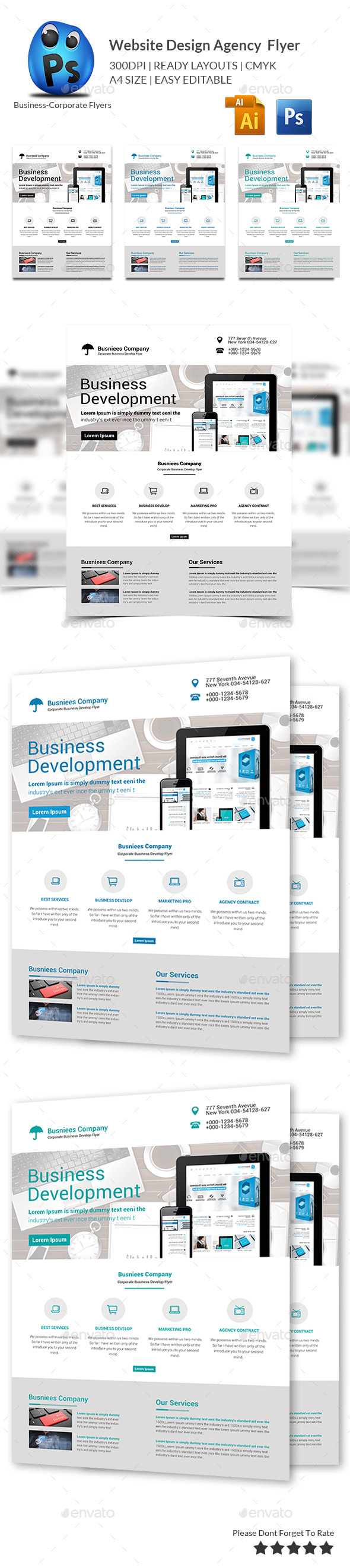 GraphicRiver Website Design Agency Flyer 10028595