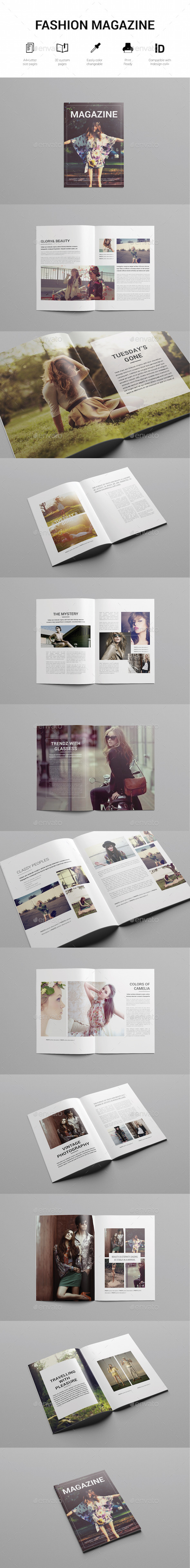 Minimal Fashion Magazine Template