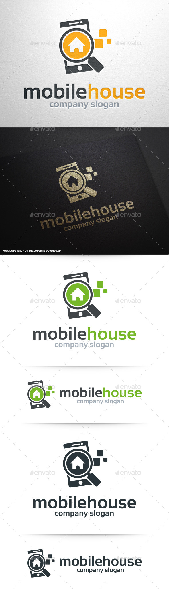 GraphicRiver Mobile House Logo Template 10028703