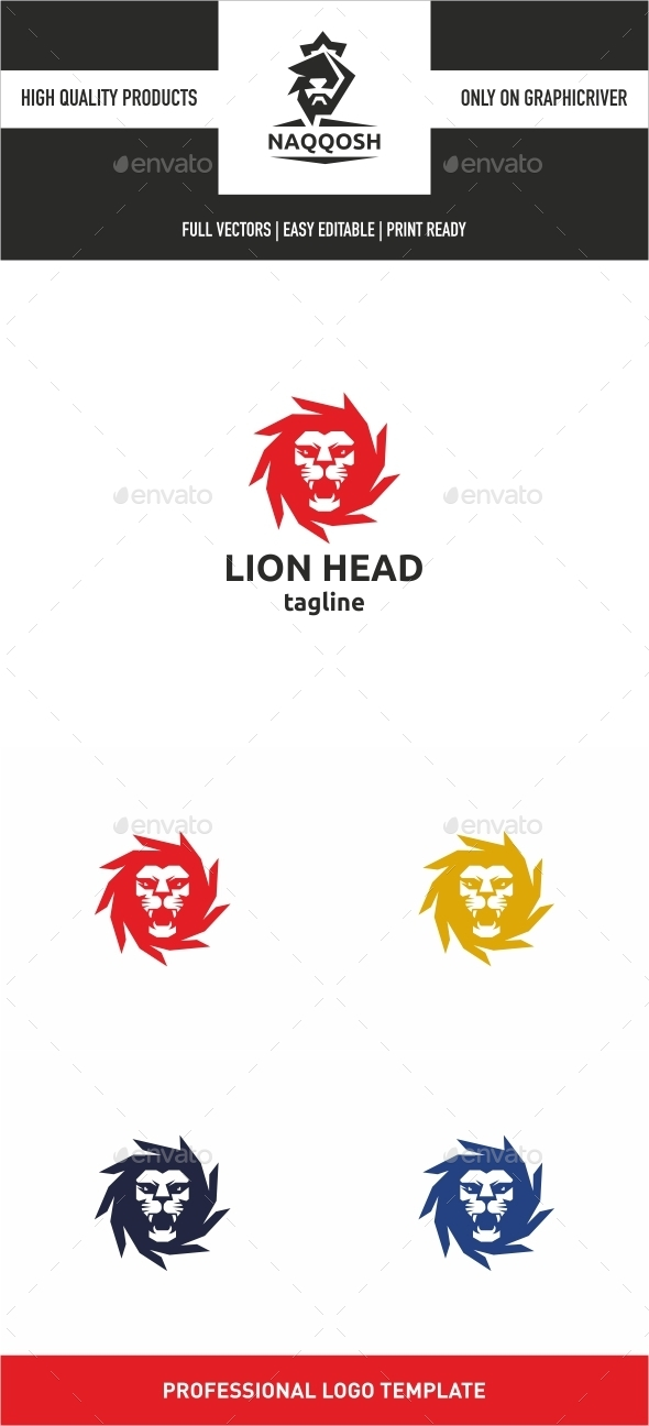 GraphicRiver Lion Head Logo 10028708