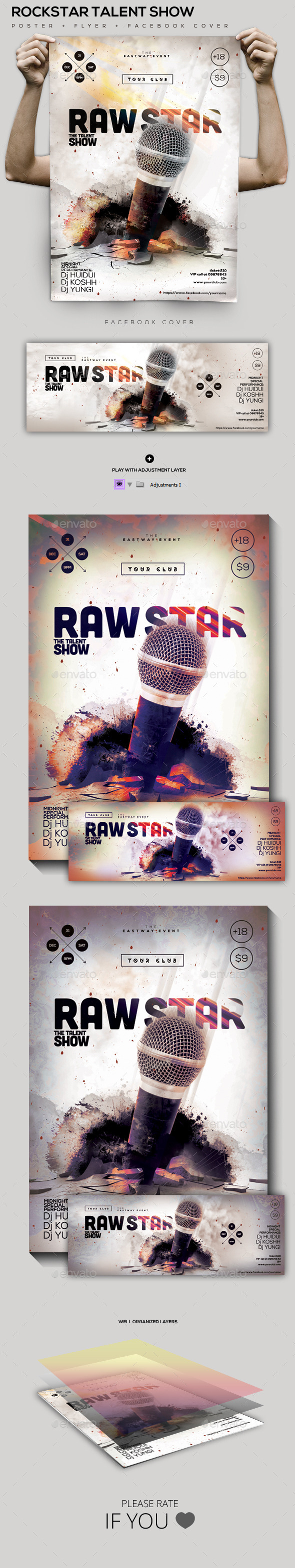 GraphicRiver Rock-Star Talent Poster Facebook Cover 10028720