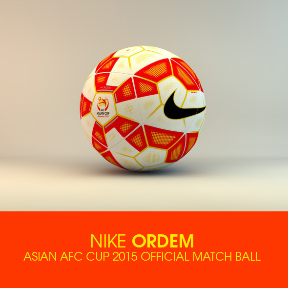 3DOcean Nike Ordem Asian AFC Cup 2015 Official ball 10028726