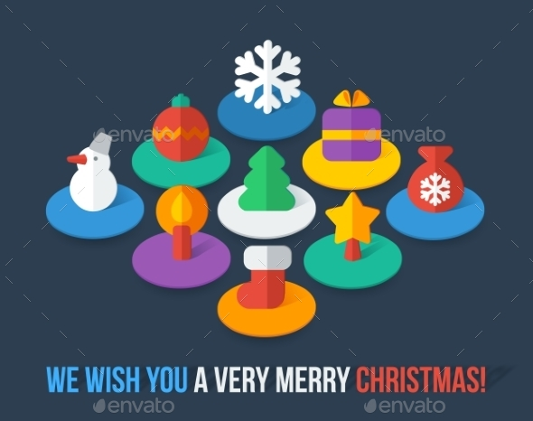 GraphicRiver Christmas Icons 10028824