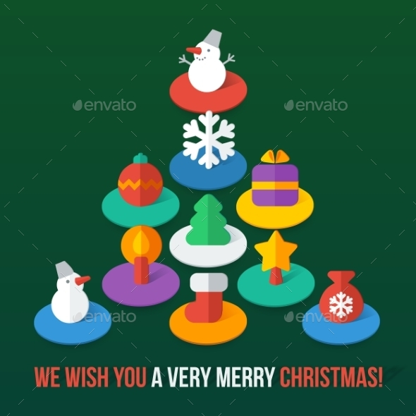 GraphicRiver Christmas Icons 10028825