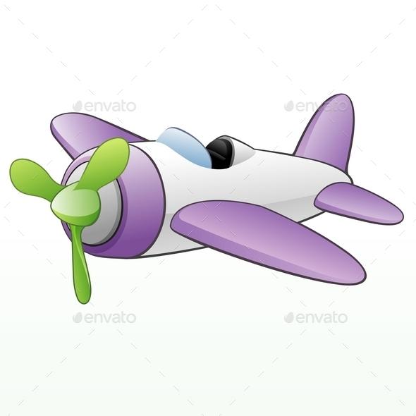GraphicRiver Cartoon Airplane 10028832