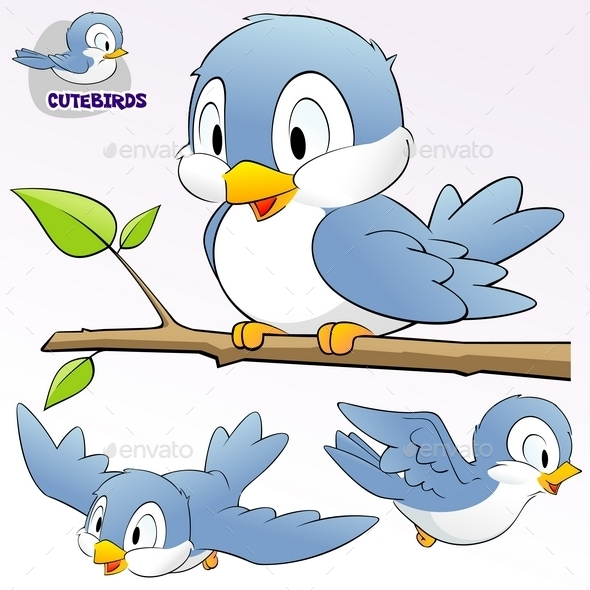 GraphicRiver Cartoon Birds 10028844