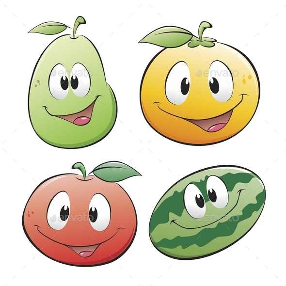 GraphicRiver Cartoon Fruits 10028955