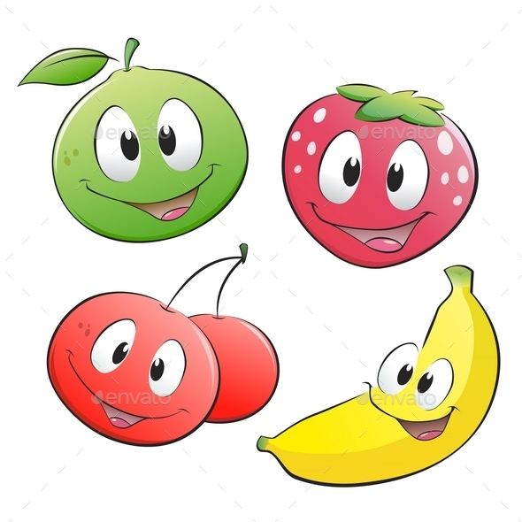 GraphicRiver Cartoon Fruits 10029054