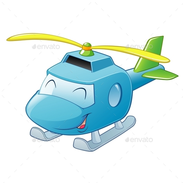 GraphicRiver Cartoon Helicopter 10029082
