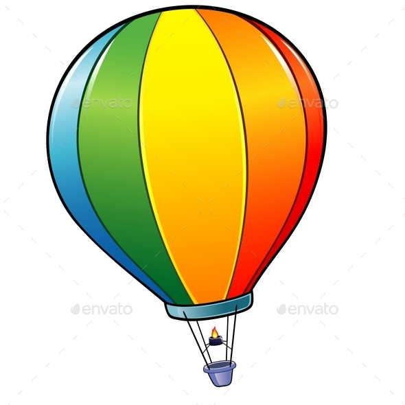 GraphicRiver Cartoon Hot Air Balloon 10029123